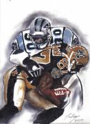 Panthers Painting Prints - Panthers vs Saints Print by Torben Gray