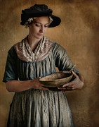 Period Clothing Metal Prints - Pantry Pondering Metal Print by Robin-Lee Vieira
