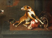 Meat Paintings - Pantry With Dogs by Pg Reproductions