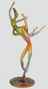 Color Sculpture Originals - Paolo and Francesca by Esther Wertheimer