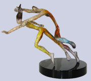 Color Sculpture Originals - Paolo and Francesca SM by Esther Wertheimer