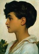 Youthful Painting Metal Prints - Paolo Metal Print by Frederic Leighton