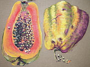 Papaya For Breakfast Print by Barbara Richert