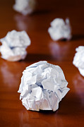 Frustration Photo Posters - Paper Balls Poster by Carlos Caetano