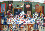   Of Pianos Paintings - Paper Chains And Real Balloons by Roger Phillpot
