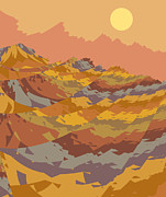 Alien World Prints - Paper Dunes Print by Mark Greenberg