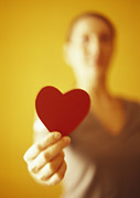 Heart Healthy Photo Posters - Paper Heart Poster by Cristina Pedrazzini