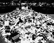 Nyse Photos - Paper Refuse After Heavy Trading by Everett