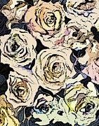 Pen Digital Art - Paper Roses by Mindy Newman