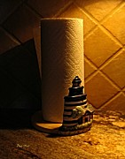 Towel Digital Art - Paper Towel Holder by Dale   Ford