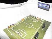 Football Sculptures - Papercraft handmade football stadium by Yushan Iceboy