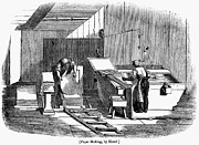 Papermaking, 1833 Print by Granger