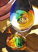 Glass Reflections Painting Framed Prints - Paperweights Framed Print by Catherine G McElroy