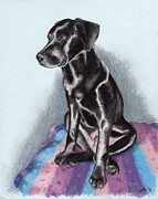 Rescue Pastels Posters - Papi the Labby Poster by Sherri Strikwerda