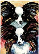 Papillon Dog Paintings - Papillon De Mardi Gras by Kathleen Sepulveda