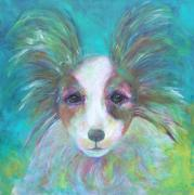 Papillon Dog Paintings - Papillon by Deb Magelssen