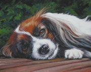 Papillon Dog Paintings - Papillon phalene by Lee Ann Shepard