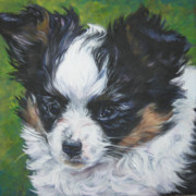 Papillon Dog Paintings - Papillon Pup by Lee Ann Shepard