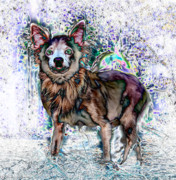 Cute Dog Digital Art - Papillon by Warren Sarle