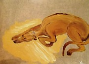 Greyhound Prints - Pappy Print by Marie Bulger