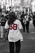 Boston Sox Prints - Paps Biggest Fan Print by Greg DeBeck