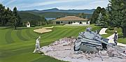 Golf Painting Prints - Par 5 Print by Scott Listfield
