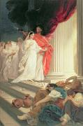 Bride Painting Posters - Parable of the Wise and Foolish Virgins Poster by Baron Ernest Friedrich von Liphart
