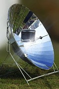 Green Power Prints - Parabolic Solar Cooker Print by Detlev Van Ravenswaay