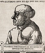 European Artwork Metal Prints - Paracelsus, Swiss Alchemist Metal Print by Middle Temple Library