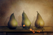 Photomanipulation Digital Art Prints - Parade Pear Print by Cindy Grundsten