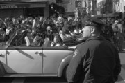 Cop Car Prints - Parade Security Print by Clarence Holmes