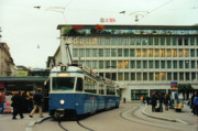 Tram Photos - Paradeplatz Zurich by Susanne Van Hulst