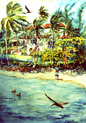 Puerto Rico Paintings - Paradise at Dorado Puerto Rico by Estela Robles