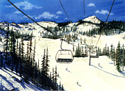 Ski Paintings - Paradise Bowl by Barbara Jewell