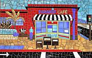 Cafe Glass Art - Paradise Cafe by Christine Brallier