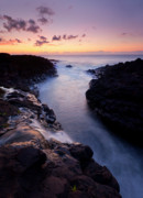 Sunset Seascape Framed Prints - Paradise Falls Framed Print by Mike  Dawson