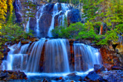 Alberta Rocky Mountains Prints - Paradise Falls Print by Scott Mahon