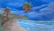 Water Pastels - Paradise In Puerto Rico by Arline Wagner