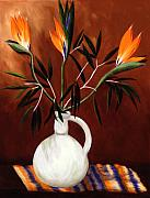 Bird Of Paradise Paintings - Paradise by Linda Hiller