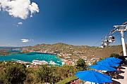 Aerial Tramway Posters - Paradise Point View Of Charlotte Amalie Saint Thomas US Virgin Islands Poster by George Oze