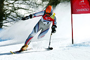 Turin Photo Prints - Paralympics Skiier Print by Ria Novosti