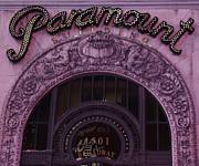 Overhang Photo Framed Prints - Paramount Theater Times Square II Framed Print by Lee Dos Santos