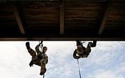 Ledge Photos - Pararescuemen Take Part In A Rappelling by Stocktrek Images