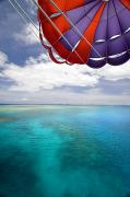 Dave Fleetham Posters - Parasail Over Fiji Poster by Dave Fleetham - Printscapes