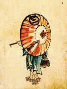 Sketchbook Framed Prints - Parasol 1840 Framed Print by Padre Art