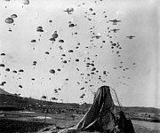 Paratroopers Jump From From C-119s Print by Stocktrek Images