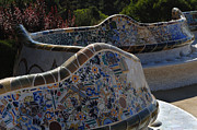 Parc Guell Prints - Parc Guell Barcelona Print by Bob Christopher