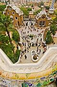 Parc Framed Prints - Parc Guell in Barcelona Framed Print by Sven Brogren