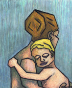 Oil Pastel Prints Originals - Parental Bond by Kamil Swiatek