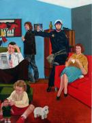 Hippie Painting Originals - Parenting In The Sixties by Cecil Williams